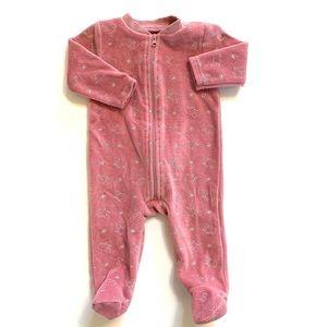 3/$25 Kyle & Deena Baby Girl Velour Sleeper
